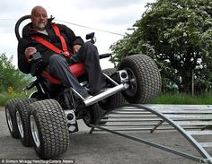 The six wheeled WHEELCHAIR, HexHog, which can go wherever it likes.