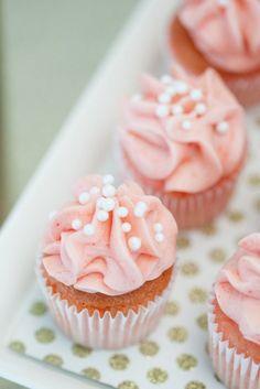 pink mini cupcakes
