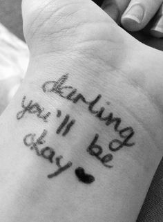"""""""darling you'll be okay"""" hey if anybody ever has time, could you please listen to Hold On Til May by pierce the veil for me? It's an amazing song that keeps me going <3 -Sienna"""