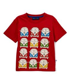 This Red VW Bus Crew Neck Tee - Infant, Toddler & Boys is perfect! #zulilyfinds