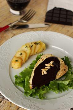 Cinco Quartos de Laranja: Peitos de frango com molho de chocolate e vinho do Porto