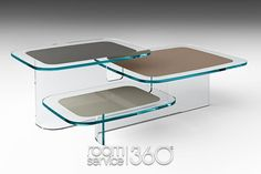 Paesaggi Occasional Table in Extra-Clear by Angeletti and Ruzza for Fiam Italia