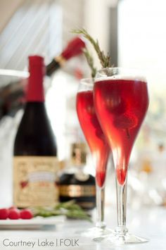 New Year's Eve Party Drink Recipes Raspberry Champagne Fizz