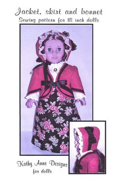 PDF+file+jacket+skirt+and+bonnet+pattern+to+by+KathyAnneDesigns,+$6.99