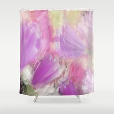 ABOUT THE ART Abstract Art, flowers, landscape, nature, lilac, original, modern contemporary, innovative. This artwork was created by Jennifer at Jenartanddesign using the original abstract painting created with acrylic on canvas, digital and graphic art media.