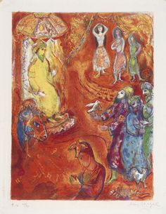 "Marc Chagall (Russian, 1887-1985), ""Now the King Loved Science and Geometry"" from the series ""Four Tales from the Arabian Nights,"" 1948; Indianapolis Museum of Art, Carl H. Lieber Memorial Fund, 149.5.11A; © The Estate of Marc Chagall/2007 Artists Rights Society (ARS), New York / ADAGP, Paris"