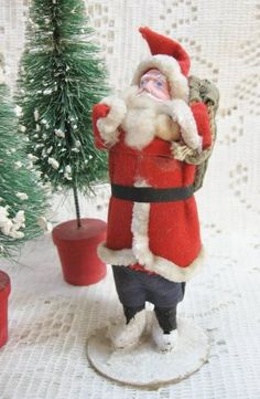 5 Inch Clay Face Occupied Japan Santa Claus $79.00