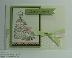 Love & Laughter in Blushing Bride, Pear Pizz, Early Espresso w Adorning Accents hearts embossing folder