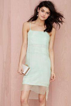 Lovely Mint Organza Dress