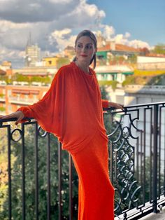 Olivia Palermo Lookbook, Olivia Palermo Style, Orange Gown, Green Carpet, Iconic Women, Zendaya, Cannes Film Festival, Bell Sleeve Top, Bell Sleeves