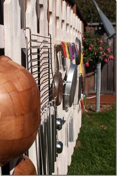 """Close-up of the Outdoor Music Fence ("""",)"""