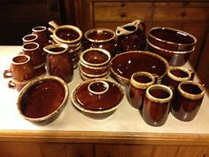 Hull Pottery Brown Drip- Reminds me of my great-grandmother