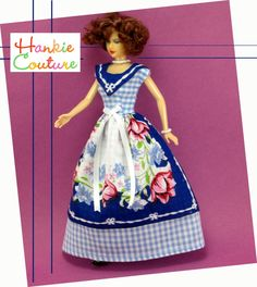 Hankie Couture: Handcrafted Doll Dresses made from Vintage Handkerchiefs by Marsha Greenberg * Pattern and DIY Inspirations * Perfect for Barbie!
