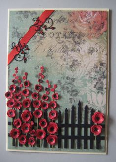 Dies used: Hollyhocks Impression Obsession Die 	 Mini Fanciful Flourish cheery Lynn die  Garden Gate Cheery Lynn Die