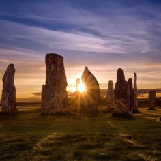 Sometimes known as the Stonehenge of Scotland the Calanais Standing Stones in Outer Hebrides are just as enchanting.