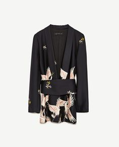 Image 6 of PRINTED JACKET WITH SASH BELT from Zara