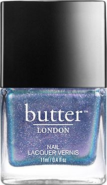 butter LONDON Knackered Nail Lacquer | A sheer, twinkling oyster shade flecked with micro glitter particles. This duochrome nail lacquer is sure to please.