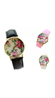 Free Giveaway: Black flower watch   Enter Here: http://www.giveawaytab.com/mob.php?pageid=896002663769936