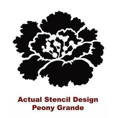Cutting Edge Stencils - Peony Grande Flower Stencil