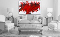 Abstract Art Giclee Red Print from Original Artwork Scarlet Splash Red Fire Wave, Modern Blood Red Handmade Home Decor Gift, Nandita. #ExtraLargeWallArt #ModernGicleePrints #AbstractArtPrints #AbstractArtPrint #prints #RedWallArtPrint #GicleeRedPrint #OriginalArtwork #ScarletSplashRed #FineArtPrints