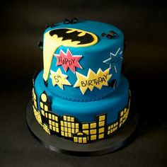 Batman Birthday Cake   Crumbs & Doilies