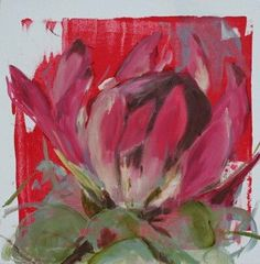 Nicola Firth Protea Art, Protea Flower, Flower Artwork, Painting Flowers, Tea Bag Art, Red Art, Abstract Canvas Art, Watercolour Tutorials, Botanical Illustration