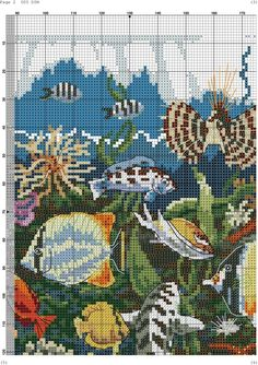 Cross Stitch Animals, Cross Stitch Designs, Under The Sea, Baby Quilts, Dolphins, Projects To Try, Creatures, Fish, Retro