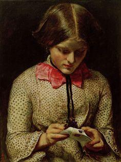 The Violet's Message, John Everett Millais. English Pre-Raphaelite Painter, (1829-1896)