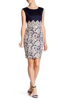 London Dress Company Lace Detail Bodycon Dress