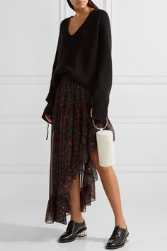 KARA - Duffel Textured-leather Clutch - White - one size