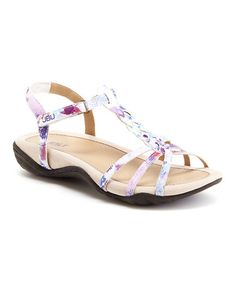 Another great find on #zulily! White Floral Azalea Sandal #zulilyfinds