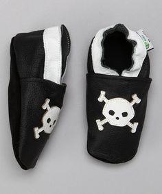 White & Black Skull Booties by Augusta Baby #zulily #zulilyfinds