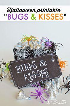 """Bugs and Kisses"" Halloween Printable by U Create"