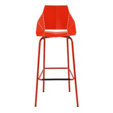The Real Good Bar Stool - part of Blu Dot's collection of unique, colorful bar stools. Modern bar stools come available in 7 bright color variations Cool Bar Stools, Patio Bar Stools, Modern Bar Stools, Cool Chairs, Counter Stools, Modern Chairs, Restaurant Bar Stools, Leather Bar Stools, Stitching Leather