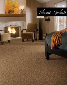Football, warm fire and Stainmaster carpet. It's fall again! Bedroom Carpet, Living Room Carpet, Carpet Manufacturers, Textured Carpet, Carpet Styles, New Carpet, Scroll Design, Carpet Flooring, Floor Design