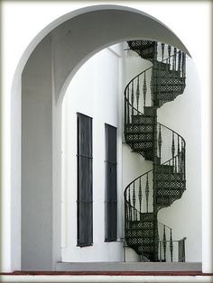 Staircase in Montevideo's Cabildo, by Vince Alongi.