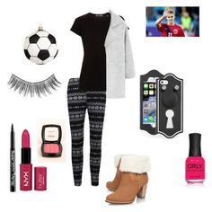 """Football is the best"" by fridaviolettafan ❤ liked on Polyvore featuring Vince, MANGO, UGG Australia, NYX, Marc by Marc Jacobs, Nordstrom and ORLY"