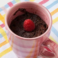 Chocolate Nutella Cake in a Mug