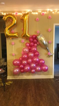 Birthday Morning Surprise Idea Hanging balloons and birthday banner