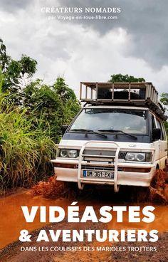 Ils ont tout quitté pour voyager en van et découvrir le monde. Ils ont choisi de commencer par l'Afrique. Ils vous racontent leurs aventures tous les lundi soirs en vidéo sur YouTube. Marion et Anatole, les Marioles Trotters ont répondu à nos questions lors de leur passage express à Paris, en octobre dernier. Ils nous partagent leur traversée de l'Afrique en van 4x4 mais aussi leur processus créatif sur les routes. Road Trip Destinations, Blog Voyage, Digital Nomad, Questions, Van Life, Vans, Youtube, Inspiration, Africa