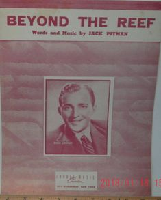 Beyond The Reef sheet music by Jack Pitman 1949 good shape