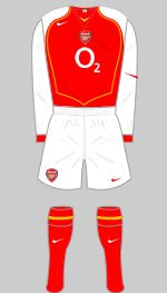 2004-2005 Arsenal Kit