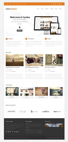 Syntex, WordPress Responsive Creative Portfolio Theme