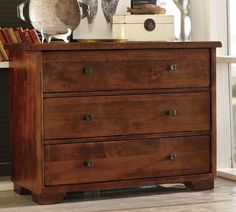 Sumatra II Dresser | Pottery Barn Double duty as dresser and nightstand for master bedroom or boys' rooms.