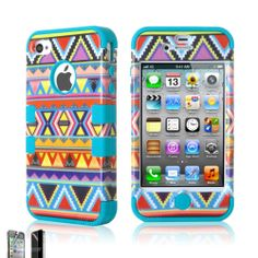 New Colorful Hybrid Cute Hard Back Case Cover Skin For Apple iPhone 4 4G 4S