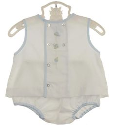 NEW Petit Ami White Diaper Set with Car, Truck, and Boat Embroidery $45.00