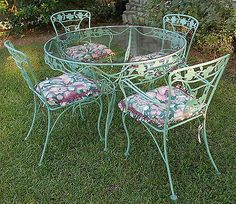 Wrought Iron Patio Set Vintage