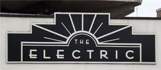 The Electric. Art Deco Typeography.