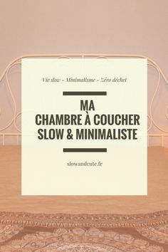 Ma chambre slow & minimaliste - Home Improvement Vie Simple, Minimalist Office, Anti Stress, Green Life, Simple Living, Better Life, Getting Organized, Declutter, Clean House
