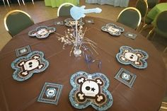 We had a rock star baby shower theme for my sister in laws party.  We got all the skull boy tableware and coordinated with rock guitars.  It was such a hit that people were impressed that it wasn't your traditional baby shower party.  Go  to: http://www.modern-baby-shower-ideas.com/rock-star-baby-shower.html Use coupon code: Modern11 and save 11%